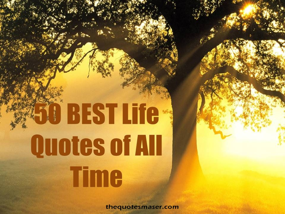 Best Life Quotes Of All Time Entrancing 50 Best Life Quotes Of All Time