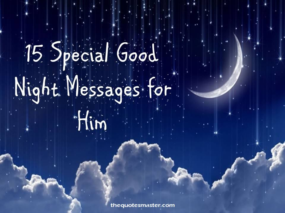 a special good night message
