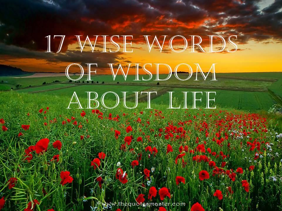 17 Wise Words of Wisdom about Life