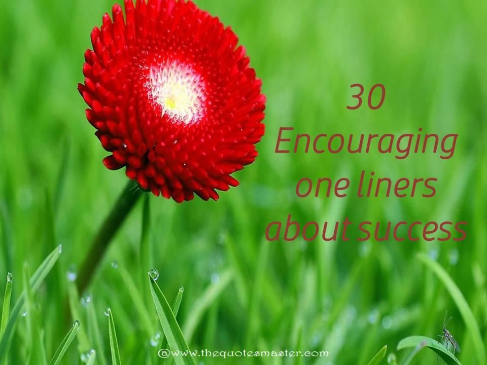 30 encouraging one liners about success