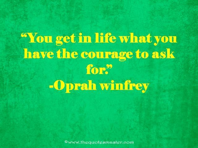 Courage quote with image