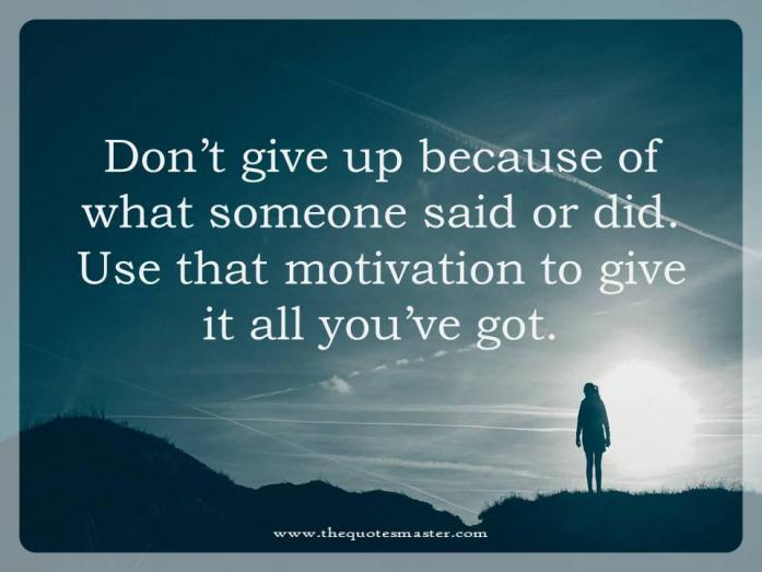 Dont give up picture quote
