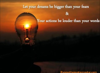 Dreams and fear quotes