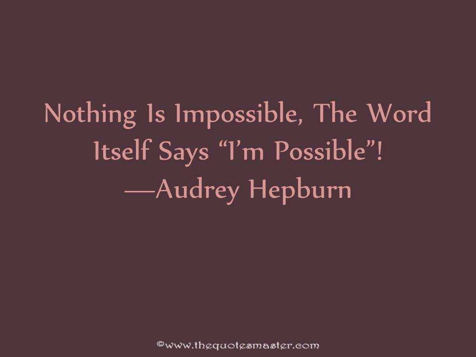 Inspirational Quote From Audrey Hepburn