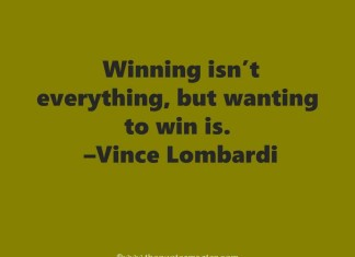 Inspiring quote about winning