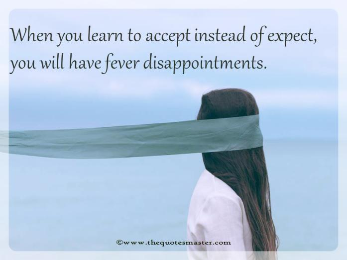 Learn to expect less quote