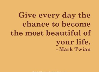 Mark Twain picture quote about life