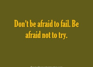 Picture quote about trying and failing