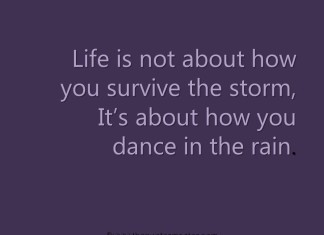 Quote About Surviving life during hard times