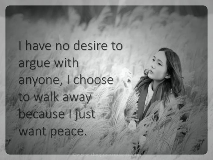just want peace quotes