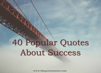 40 popular quotes about success
