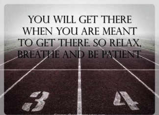 Breath and Be patient quotes