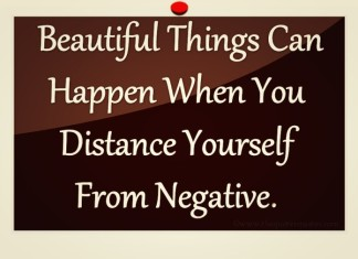 Distance yourself from negative picture quotes