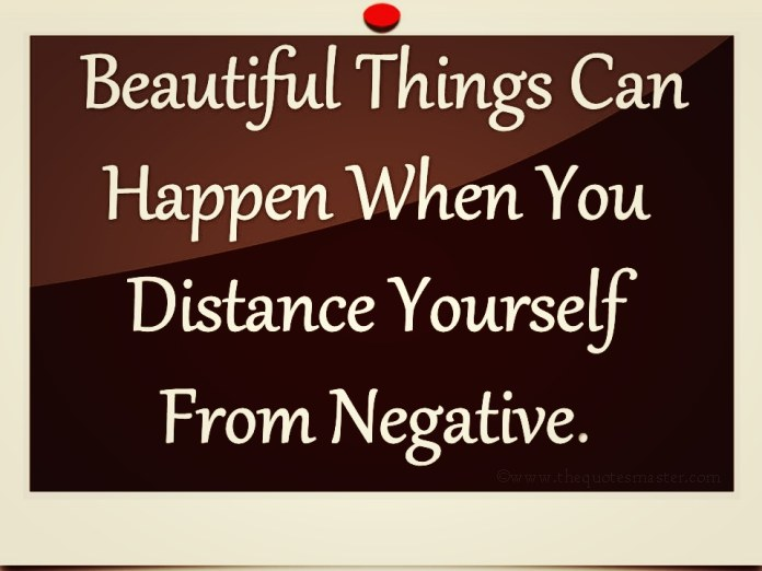 distance yourself from negative