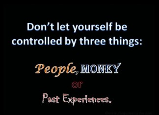 Dont let controlled by money picture quote