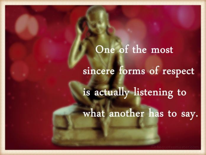 Listening to what others sat picture quotes