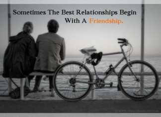 Love begins with friendship picture quotes