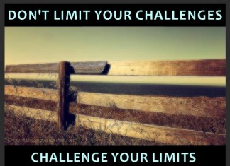 Picture quote about challenges