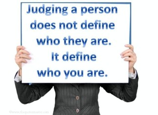 Picture quotes about judging a person