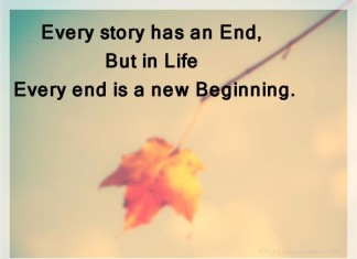 Picture quotes about every end has new beginning