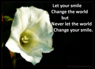 Smile Change the world picture quotes