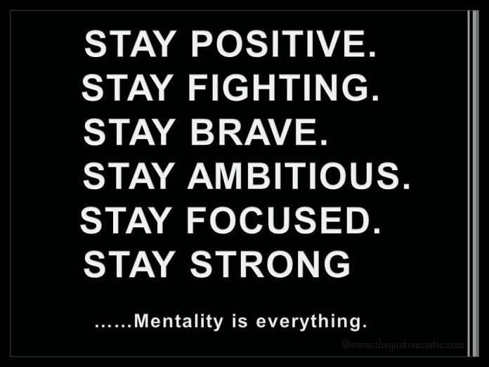 Stay Focused Quotes Simple Stay Positive.