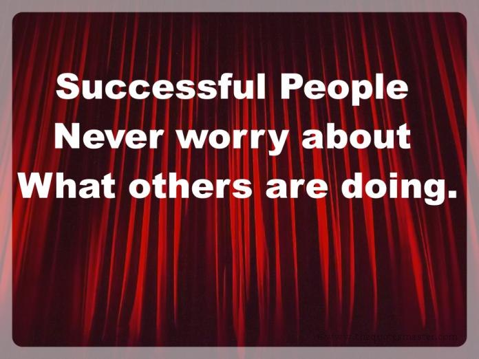 Successful people dont worry image quotes