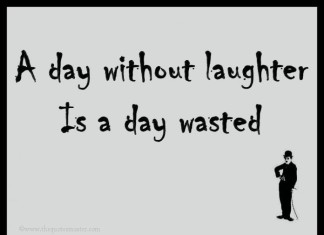 A day with out laughter picture quotes