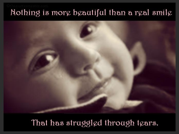 Picture quotes about smile and tears