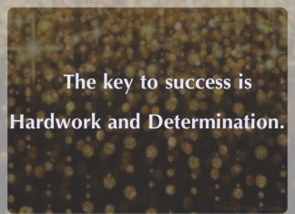 Success Hardwork and determination picture quotes