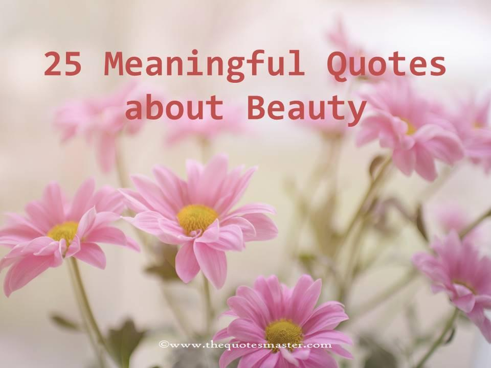 25 meaningful quotes about beauty