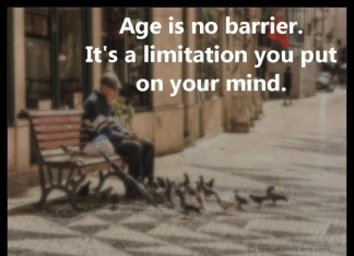Age is no barrier picture quotes