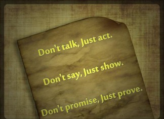 Dont talk just act picture quotes