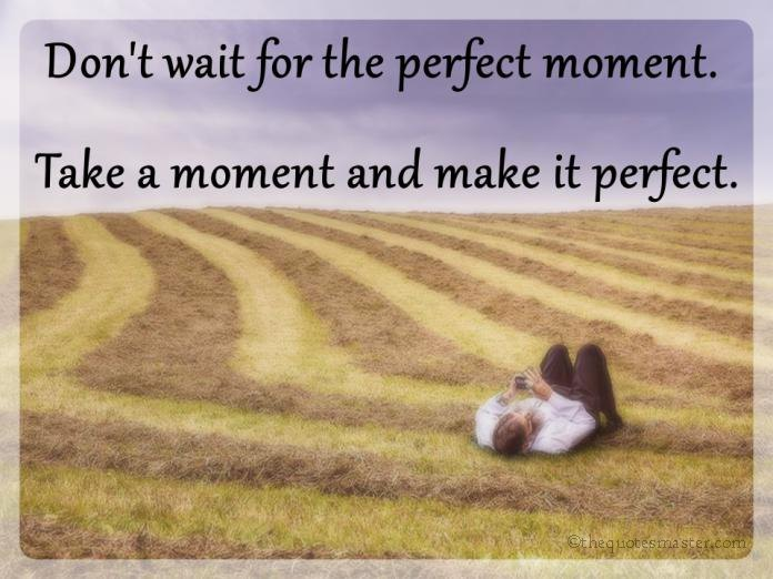 Dont wait for the perfect moment quotes