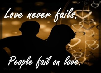 Love never fails picture quotes
