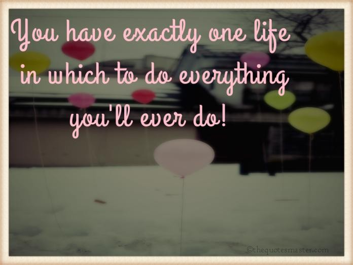 One Life and Do Everything picture quotes