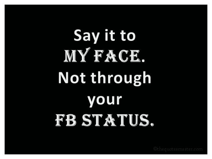 Quotes about Facebook status