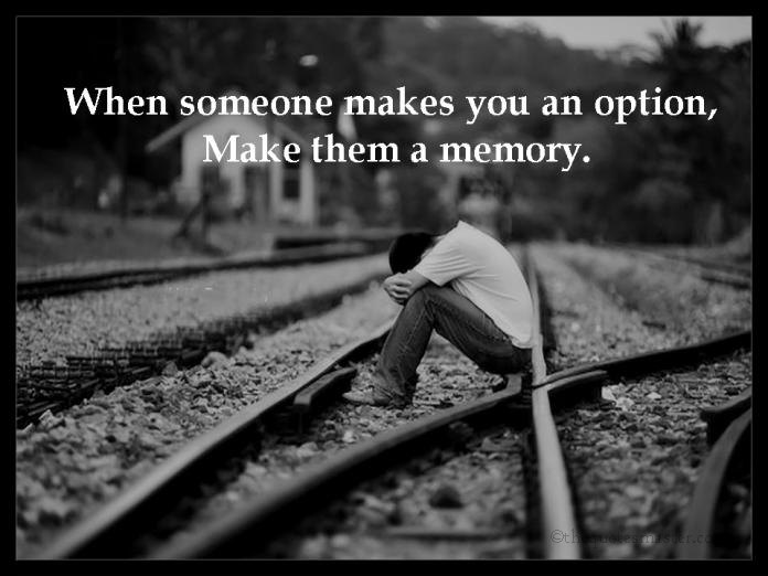 When someone makes you an option...