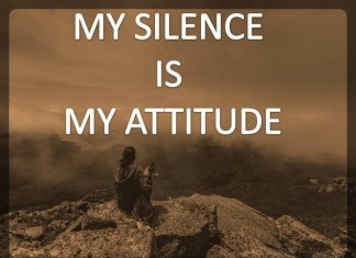Silence and attitude quotes