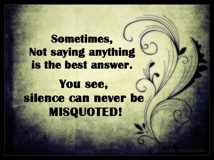 Silence Quotes with images