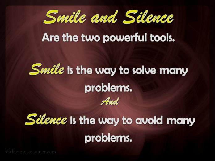 Smile And Silence Classy Quotes On Smile
