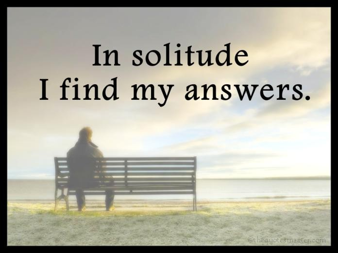 Solitude picture Quotes