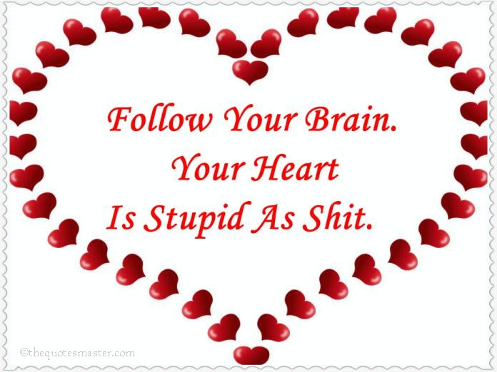 Follow your brain follow your brain and not heart quotes thecheapjerseys Image collections