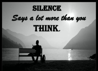 Silence Picture Quotes