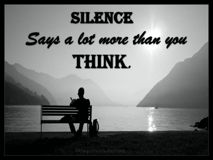 Silence Says A Lot More Than You Think