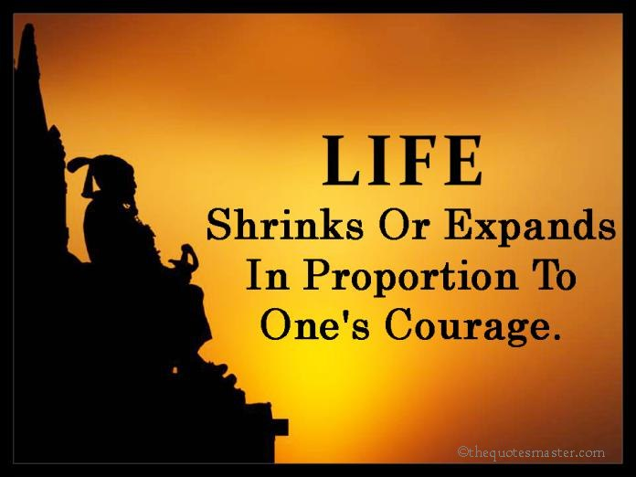 Life and Courage Quotes