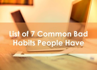 List of 7 Common Bad Habits People Have