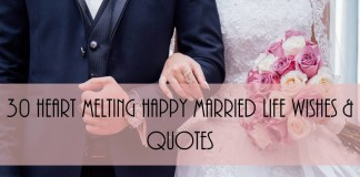 30 Heart Melting Happy Married Life wishes & Quotes