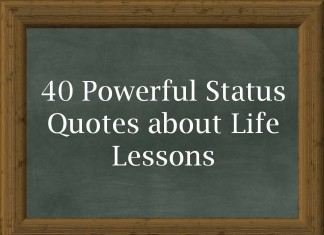 40 Powerful Status Quotes about Life Lessons