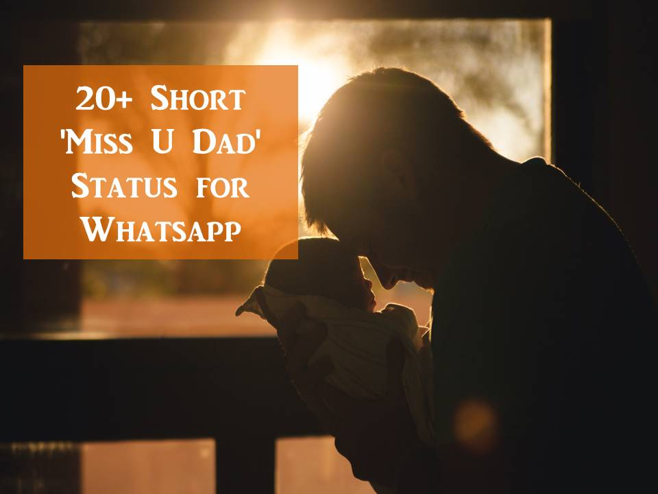 20+ Short 'Miss U Dad' Status for Whatsapp